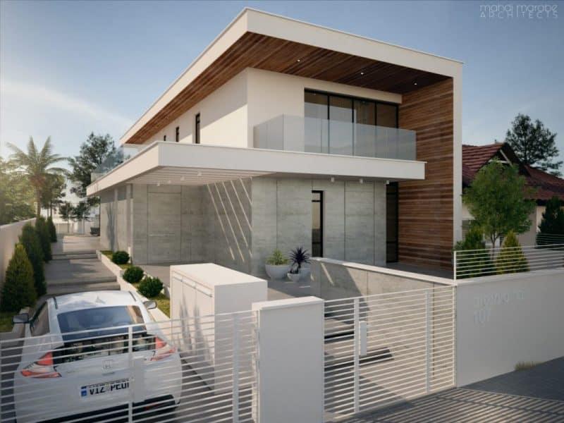 """בית שתוכנן על מגרש של 550 מ""""ר, צר מאוד וארוך, קו הבניין צמוד לשכן וזה היה האתגר התכנוני והעיצובי לצד הפרוגרמה המוקפדת שקיבלנו מהלקוח"""