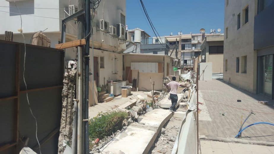 העירייה הרסה בצו הריסה מבנה מסוכן