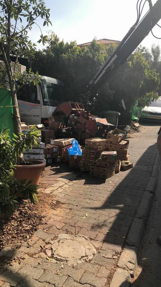 טון וחצי בשר הוחרמו היום לאחר שהובלו במשאית וללא תנאים היגיינים נאותים