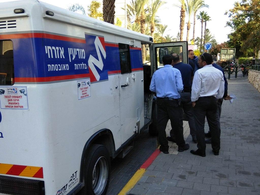 משאית כסף נשדדה בגני תקווה