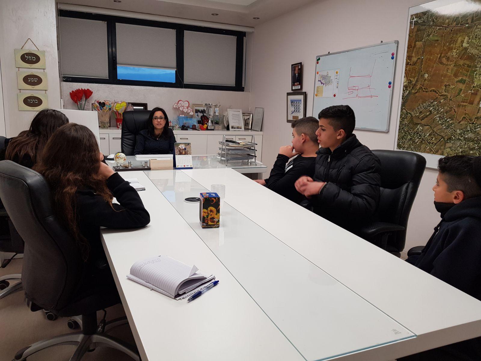 נוער אור יהודה התארחו עם ראש העיר