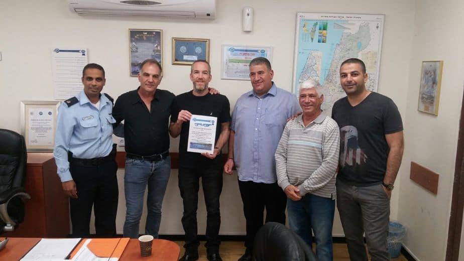 השיטור העירוני חילק תעודות הוקרה לפעילי משמרי השכונה באור יהודה