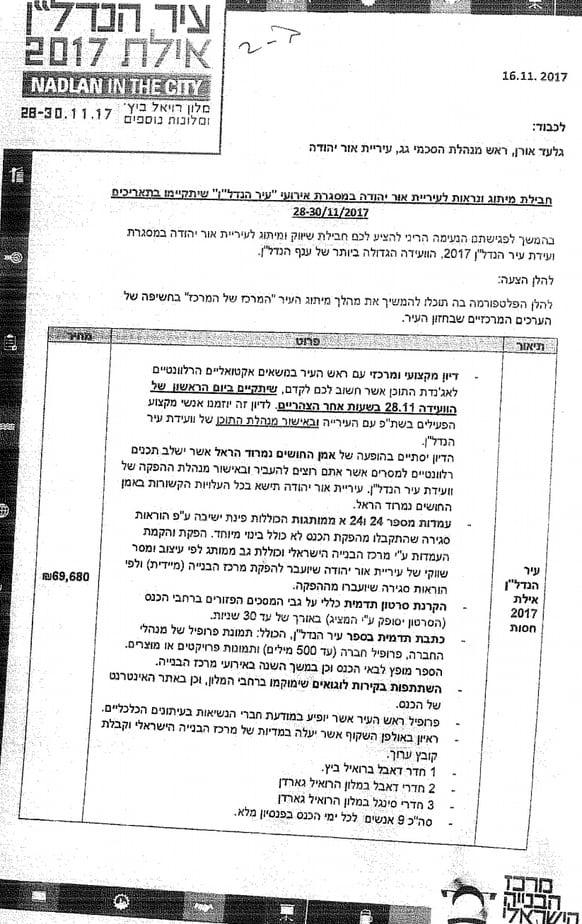 בכירי עיריית אור יהודה באילת