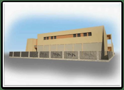 הדמייה של מבנה תחנת המשנה המתוכננת
