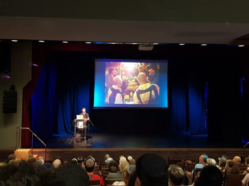 טייס הקרב והאלוף האולמפי נועם גרשוני הופיע באולם התרבות שגבעת שמואל