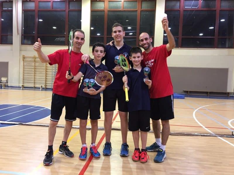 הזוכים הצעירים באליפות ישראל בבדמינטון 2018
