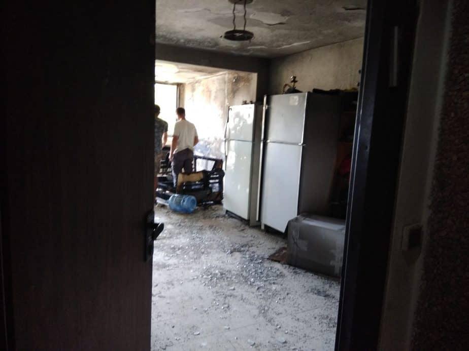 שריפה רחוב התמר במונוסון