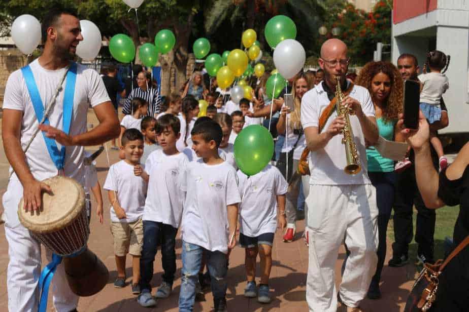 פתיחת שנת הלימודים באור יהודה. תמונות: איתן אלחדז