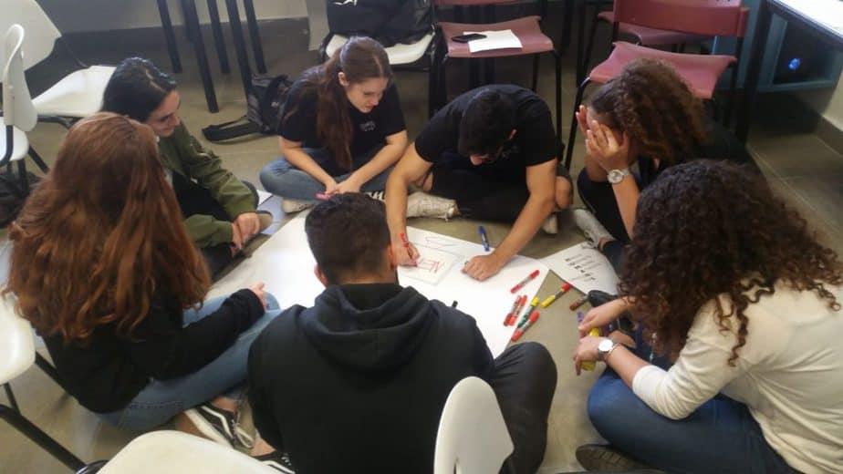 המפגש בין התלמידים. תמונות פרטיות