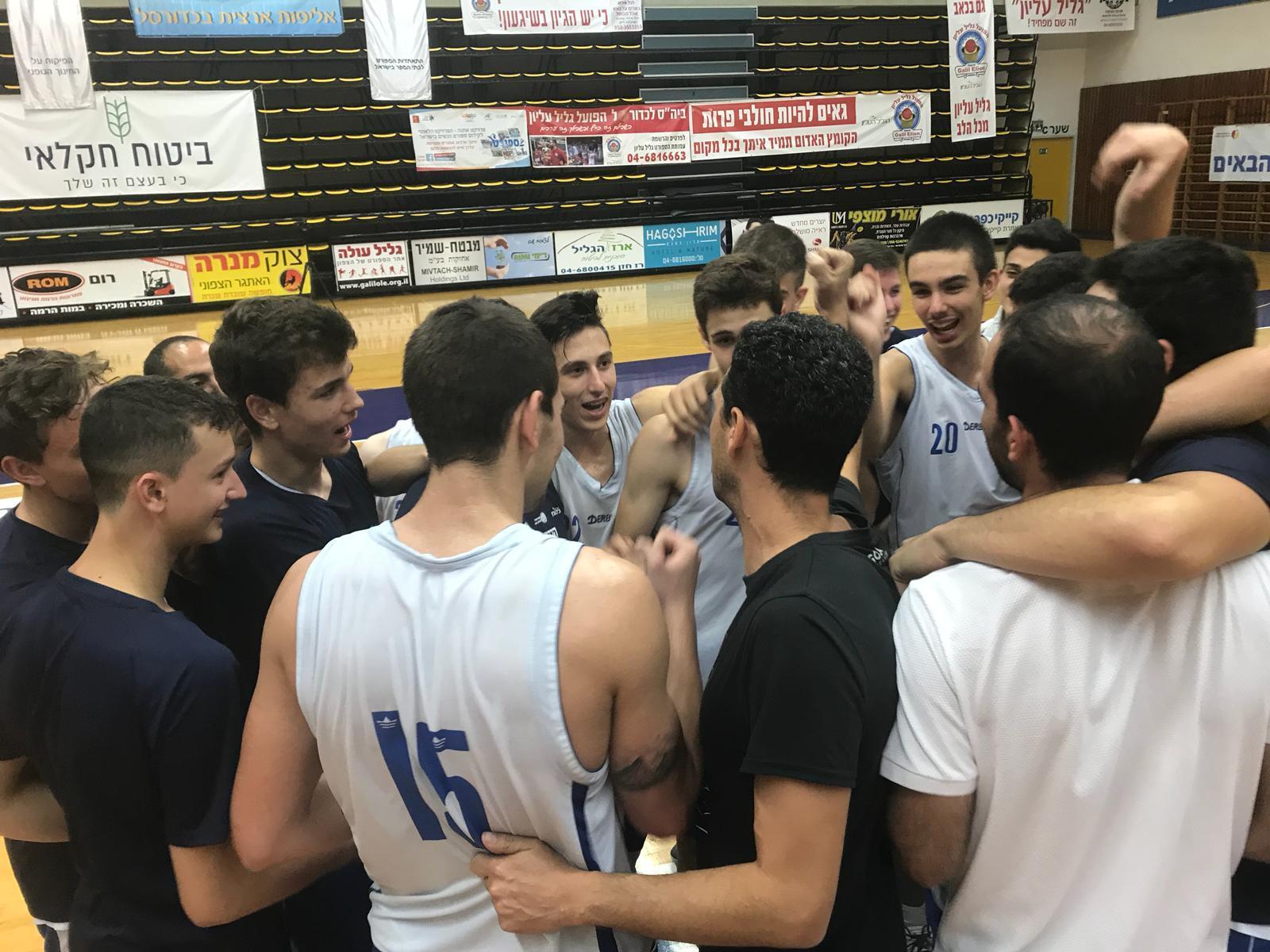 נבחרת הכדורסל של בן צבי עולה לחצי הגמר
