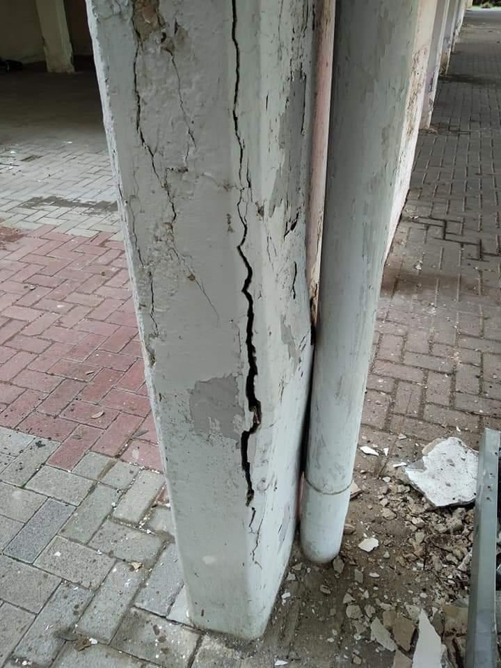 בניינים ביהוד על סף קריסה