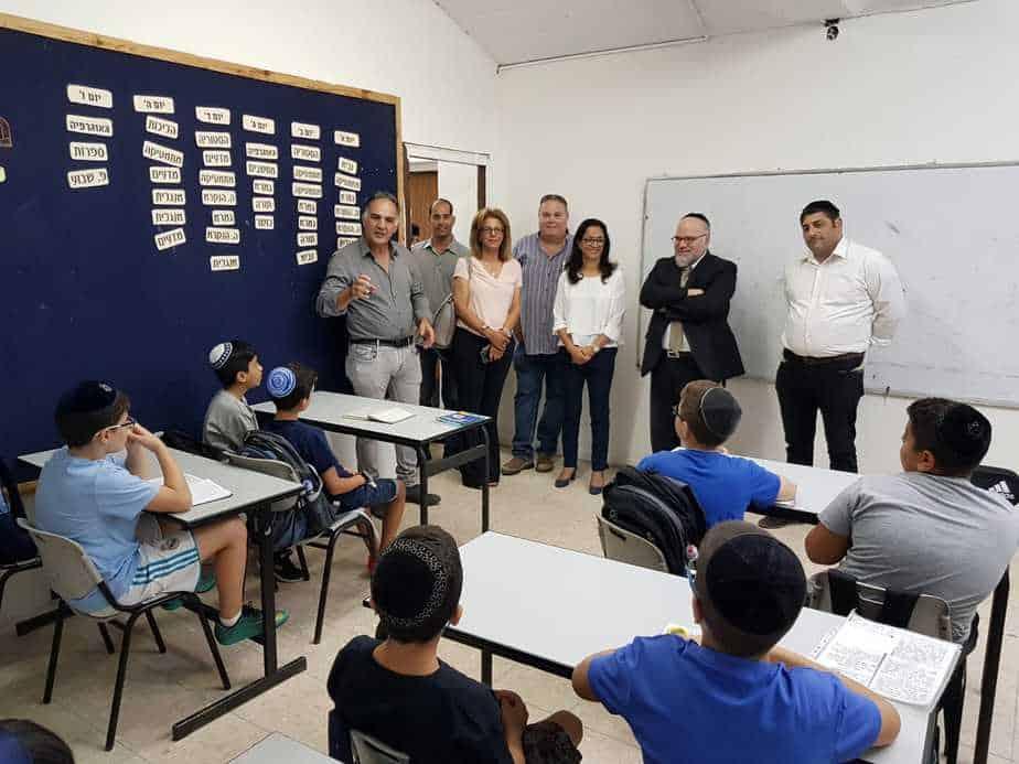 בית ספר מדעים ויהדות ביקור ראש העירייה 1