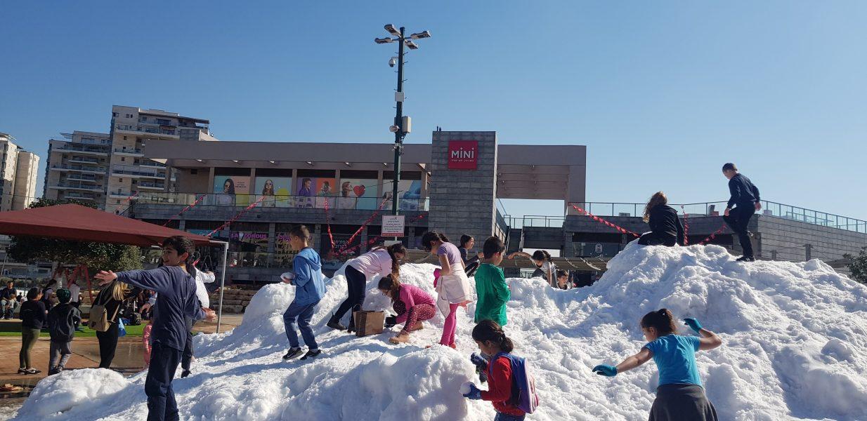 שלג באור יהודה
