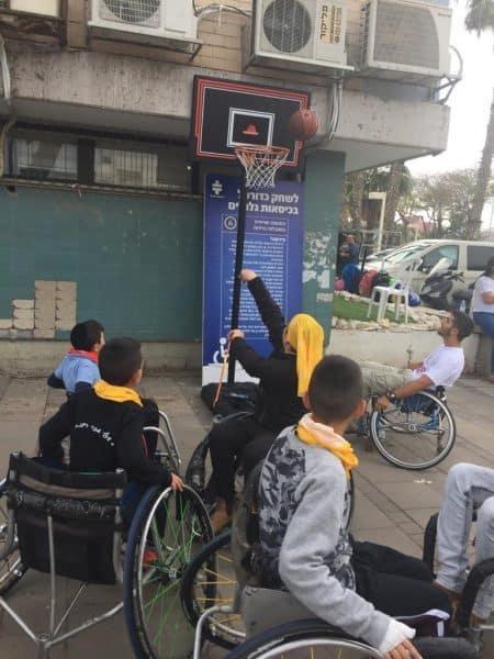 קליעה לסל בכיסאות גלגלים