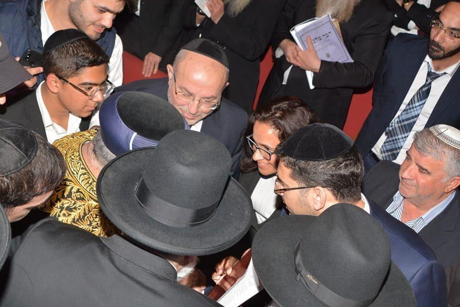 ראש העיר ליאת שוחט עם הרב יצחק יוסף