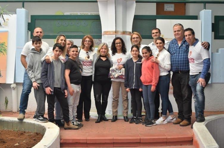 תלמידי סביונים עם העירייה