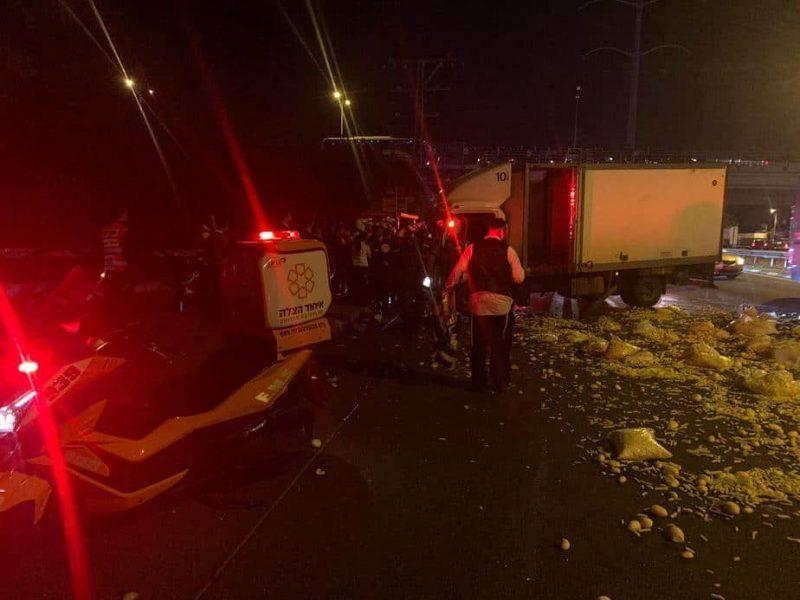 תאונת הדרכים בכביש 4