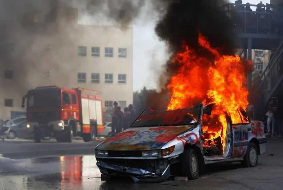 שריפת רכב