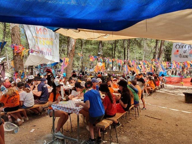 חניכים במחנה קיץ צופי און 2019