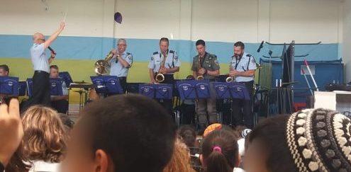 תזמורת המשטרה. צילום: דוברות המשטרה