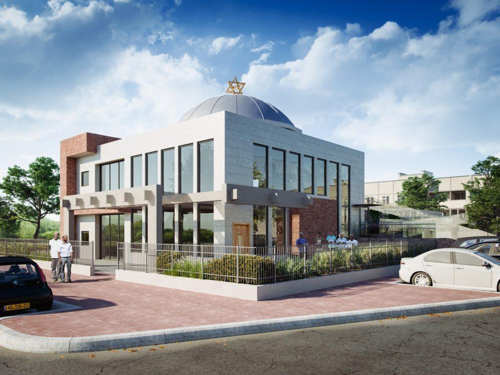 הדמיה של בית הכנסת החדש