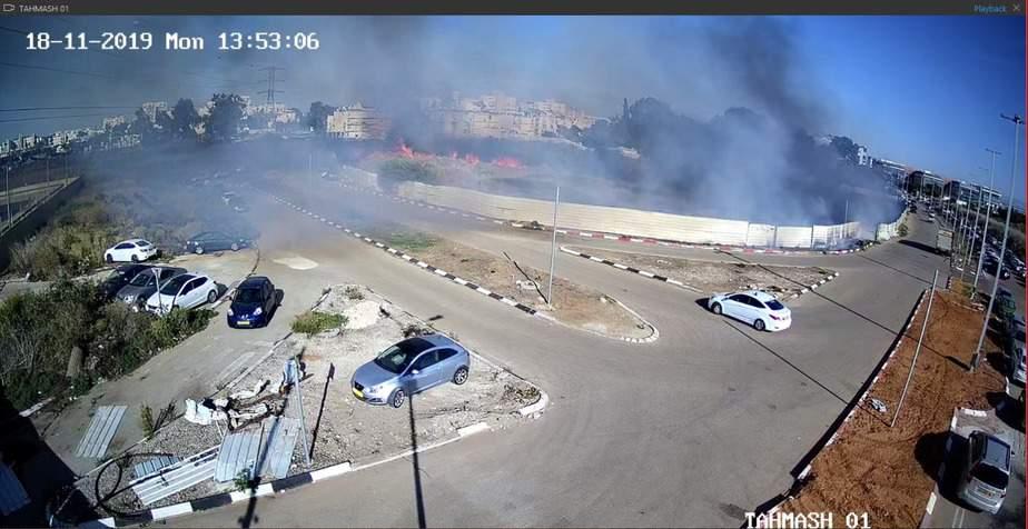 צילום: מצלמות האבטחה של עיריית אור יהודה