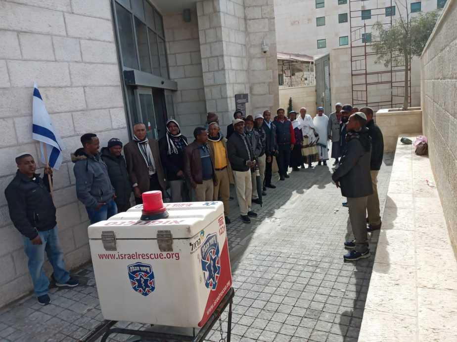 הפגנת האתיופים בירושלים