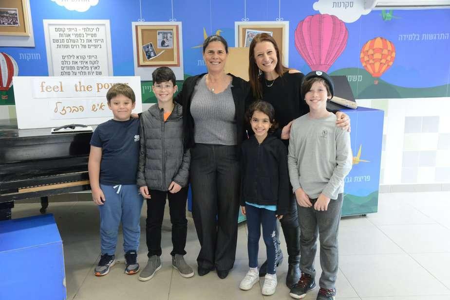 ביקור בבית ספר גנים צילום: דני כהן
