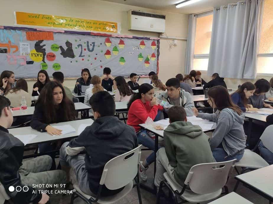 לומדים היסטוריה בחטיבת בן צבי