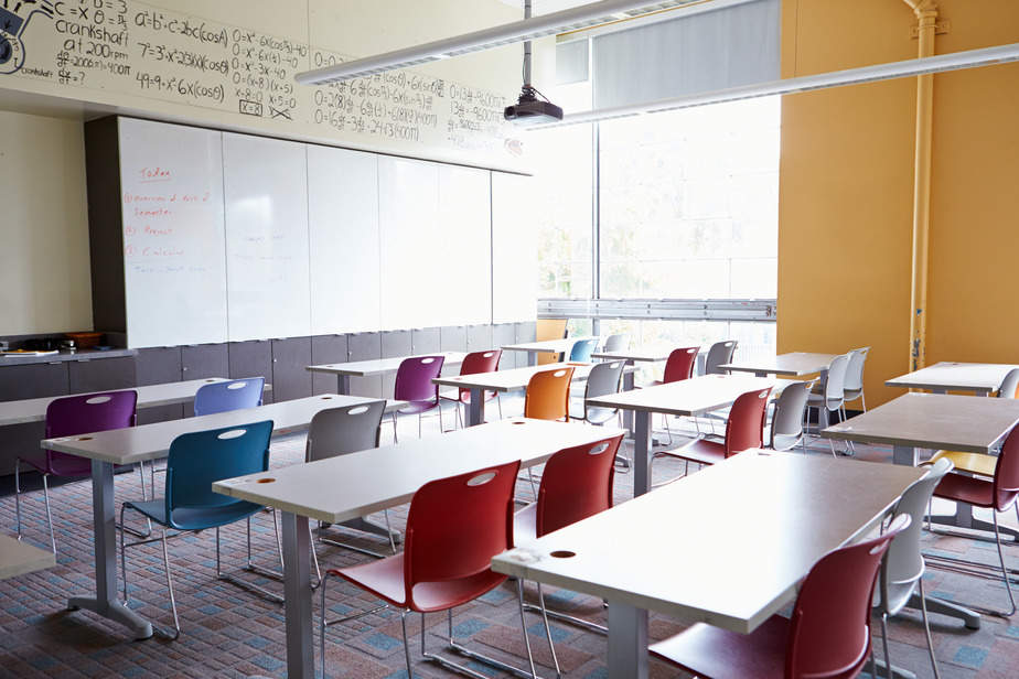 Empty School Classroom canva