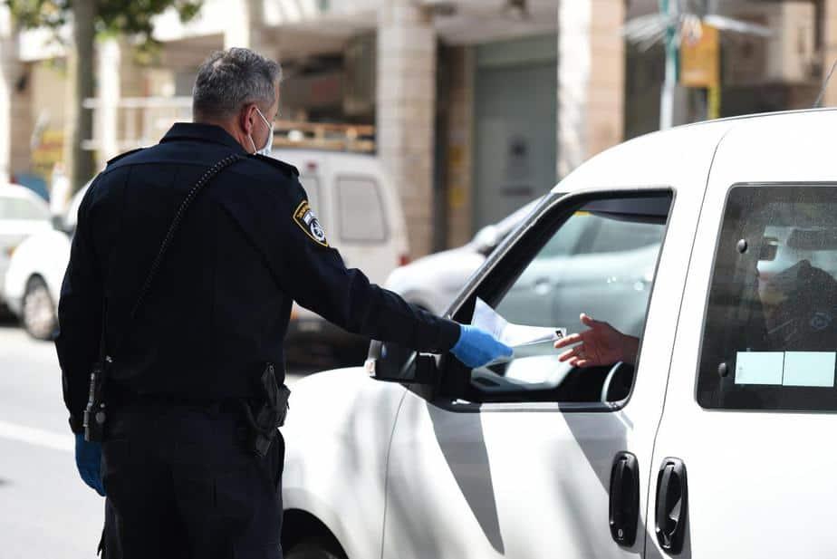 מחסום משטרתי. צילום משטרה