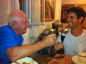 בועז אורמן עם אביו צילום משפחתי
