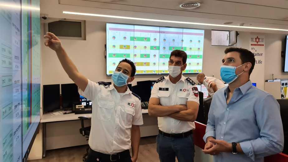 ביקור חכ איתן גינזבורג, יור ועדת הכנסת במדא – צילום דוברות מדא 1.11.2020 (4)