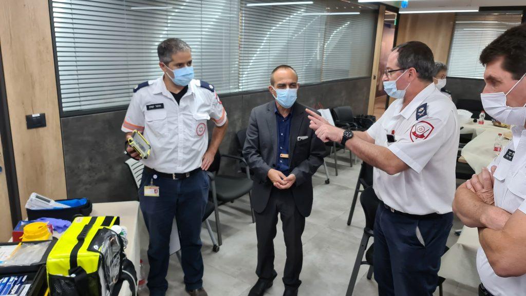 ביקור פרופ גמזו פרויקטור הקורונה במדא – צילום דוברות מדא 21.10.2020 (3)
