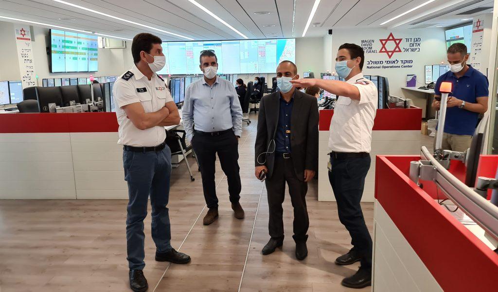ביקור פרופ גמזו פרויקטור הקורונה במדא – צילום דוברות מדא 21.10.2020 (5)