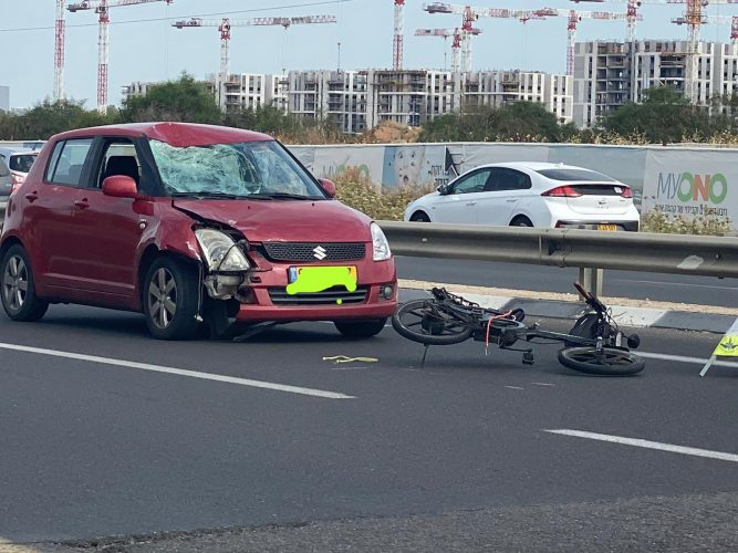 תאונה בצומת סביון. צילום: אונו ניוז