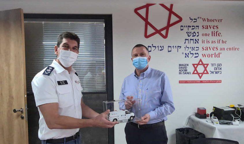 ביקור שר הבריאות יולי יואל אדלשטיין במדא - צילום דוברות מדא