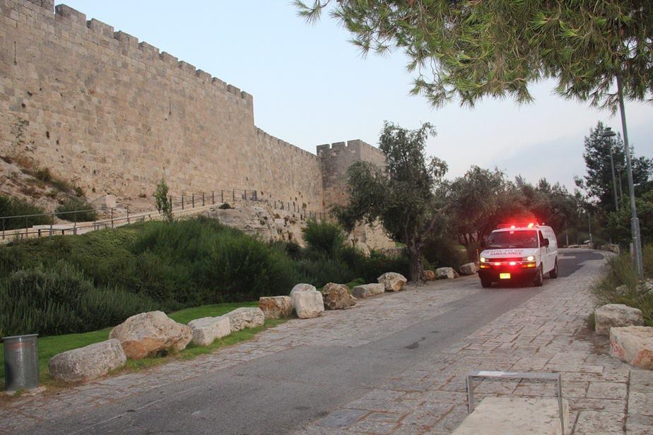 אמבולנס מדא בחומות דוד בירושלים- צילום דוברות מדא