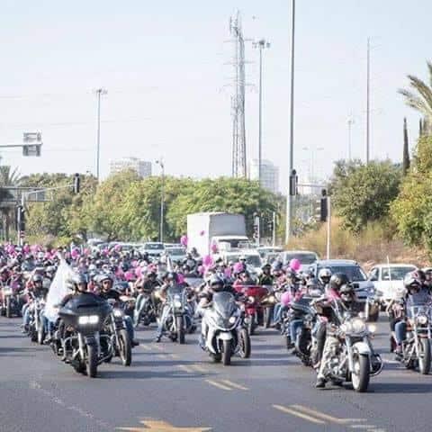 מאות אופנועי הארלי (צילום באדיבות שרית צאיג)