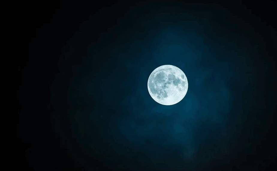 ירח כחול מלא. צילום: PIXABY