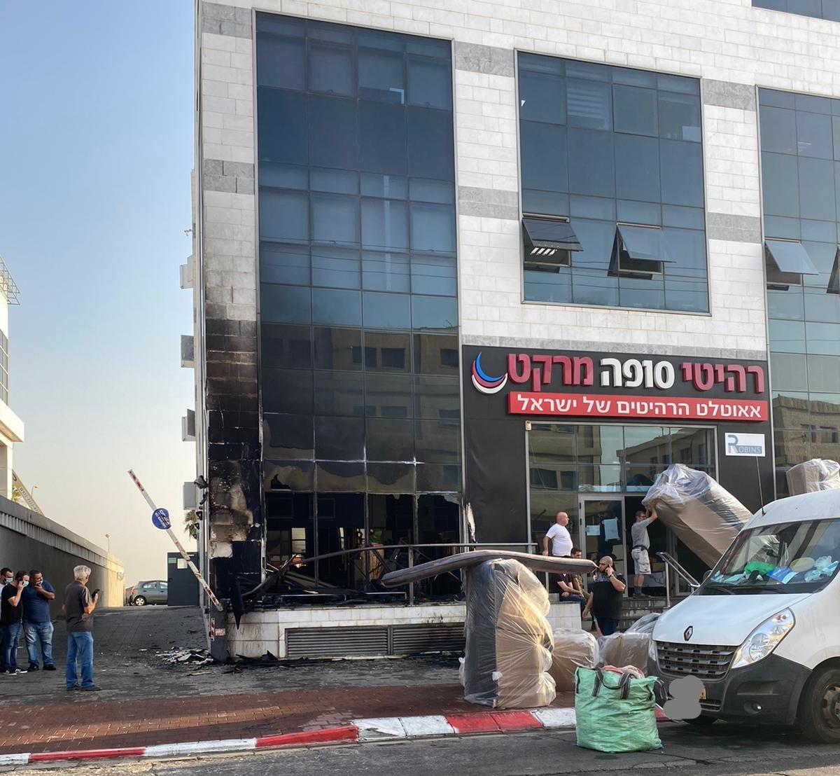 שריפה בחנות באור יהודה