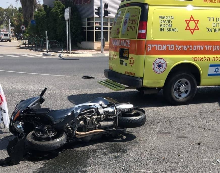 אופנוע תאונה כביש 461 צילום אונו ניוז