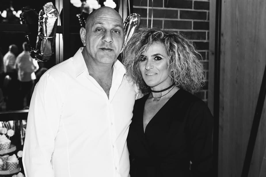 ציפי דן לצד בעלה דוד (צילום פרטי)