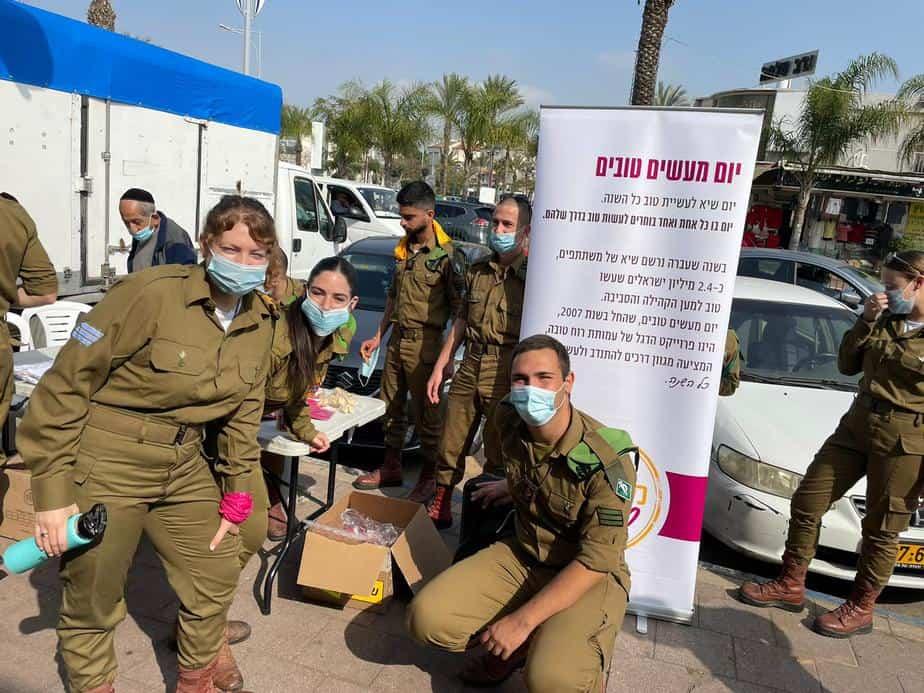 פעילות של חיילים בעיר.צילום:דוברות עיריית אור יהודה