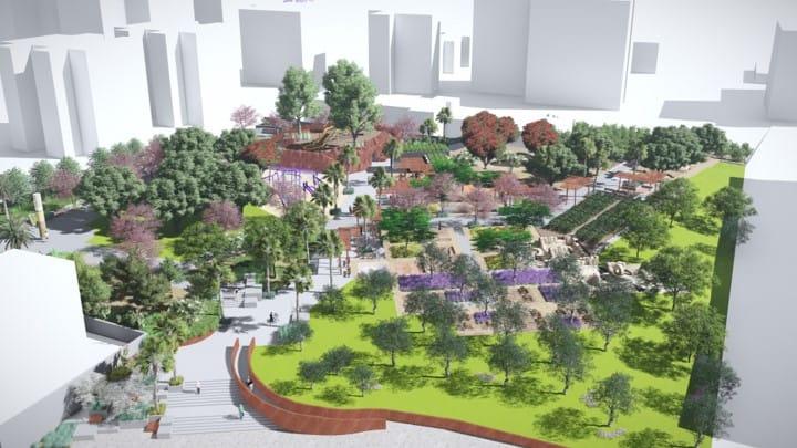 מבט כולל הדמייה פארק תל יהוד ((קרדיט צביקה קנוניץ – סטודיו קו בנוף)