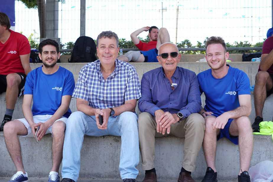 (משמאל לימין) - אורון אייזנשטיין מנכ״ל אגודת הסטודנטים אונו, ישראל גל ראש עיריית קריית אונו, פיני קבלו סגן יו״ר ההסתדרות, אלחנן פלהיימר יו״ר אגודת הסטודנטים (צילום אור חורי)