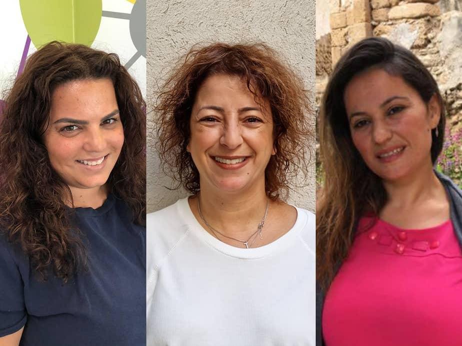 כרישות החינוך של גני תקווה. מימין לשמאל: אירנה אברמוב, ג'ניפר אלמוג והגר ארבל. צילום: דוברות מועצת גני תקווה