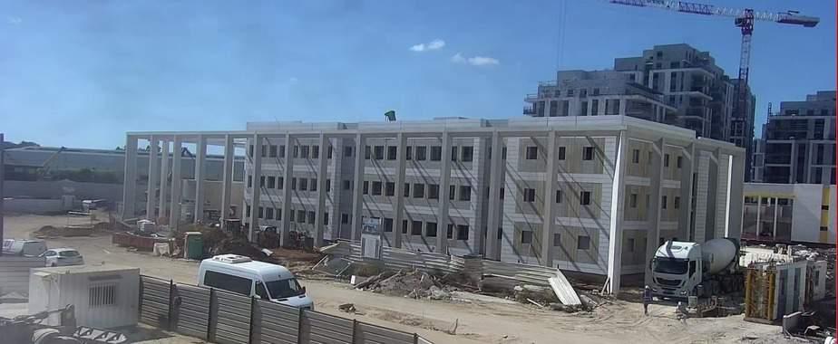 בית הספר היסודי נבון היום. צילום: מצלמות האבטחה של עיריית אור יהודה