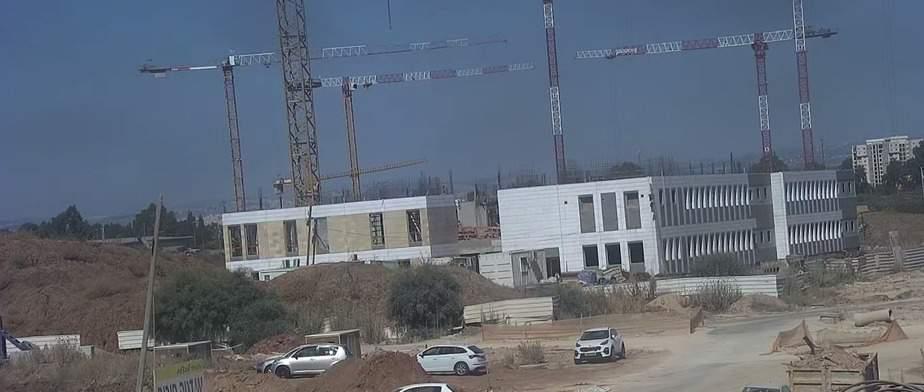 בית הספר רמון היום. צילום: מצלמות האבטחה של עיריית אור יהודה