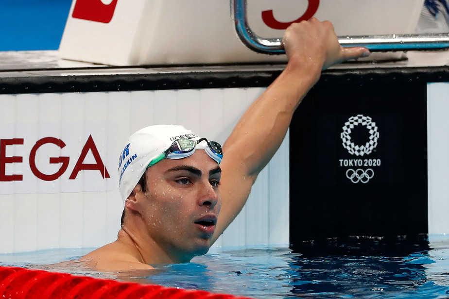 יעקב טומרקין במשחה 200 מטר גב. צילום: סימונה קסטרווילארי, באדיבות הוועד האולימפי